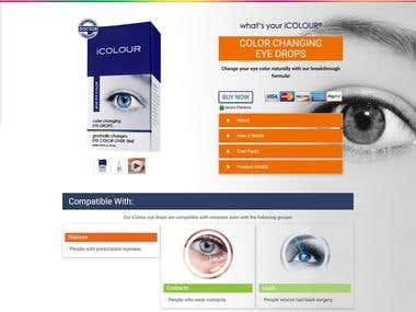 iCOLOUR eye drops works by blocking