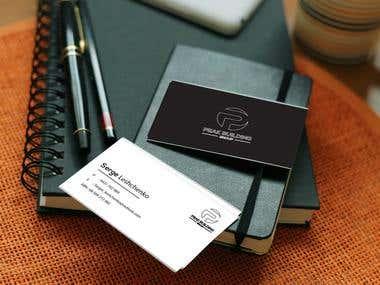 Peak Building Business Card design.