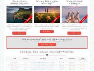 Join the leading and most popular Photography Tours and Work