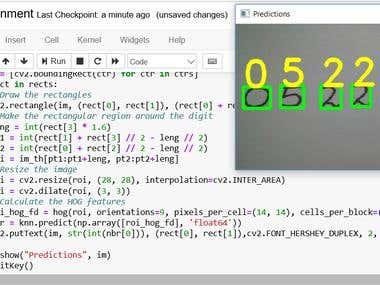 Handwritten digit recognition on MNIST dataset