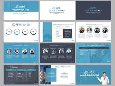Professional black and white themed powerpoint presentation