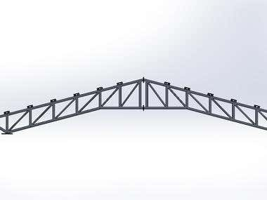 Truss drawing in solid works