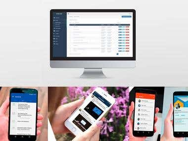 The integration between Mobile application and Website