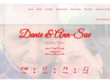 Wedding Web page design & development
