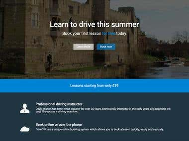 Driving School Landing Pages & Booking System