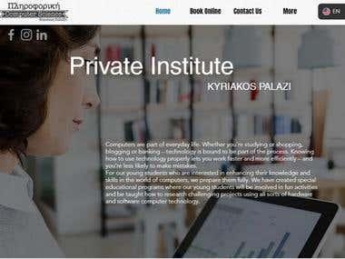 Private Institute Website
