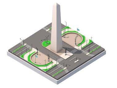 El Obelisco - Isometric