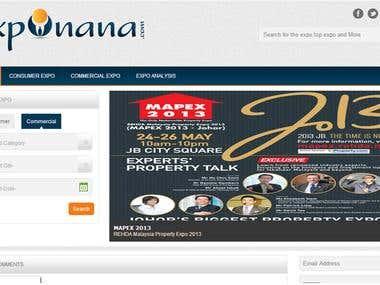 Website for Exponana