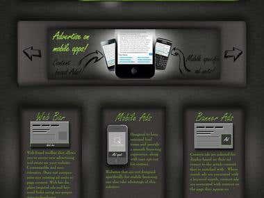 Dark homepage design