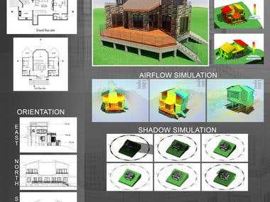 Revit & Auto Cad/Cam, Building Concept (Simluation)