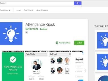 Attendance Kiosk App
