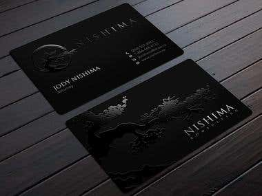 Business cards design for the company