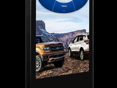 UX/UI for Ford Kios Application