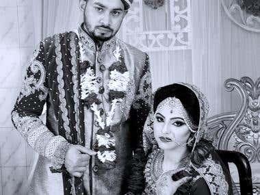 Wedding photo edit