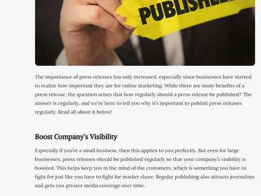 Why It's Important to Publish Press Releases Regularly