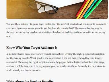 Foolproof Tips on How to Write Convincing Product Descriptio