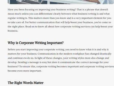 Boost Your Business with Corporate Writing Services!