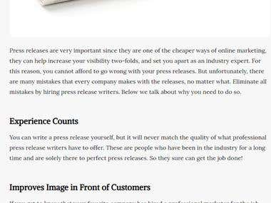 Top Reasons Why You Need Press Release Writers for Your Bran