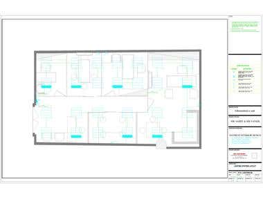 Electrical design for a commercial unit using Autocad