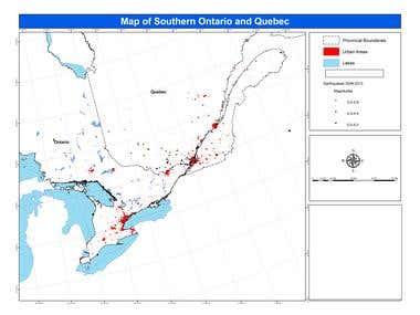 GIS analysis and Creation of Maps
