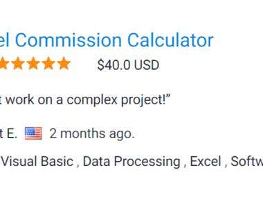 Excel Auto Commission Calculation