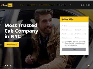 Taxi VT Montreal website design.