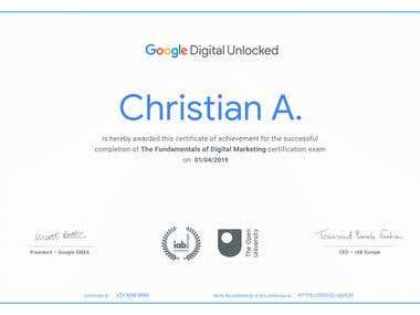 The Fundamentals of Digital Marketing Certificate