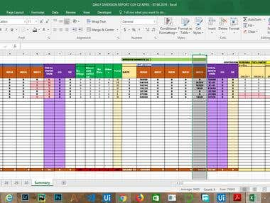 automated generating summary for excel file