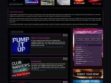 Website front-end/template designed