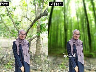 Photo Editing (Background editing)