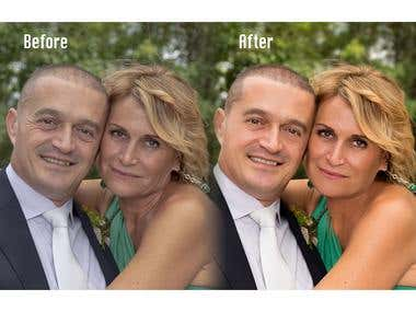 Wedding photograpy, skin retouch