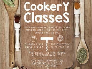 Cookery Class Brochure