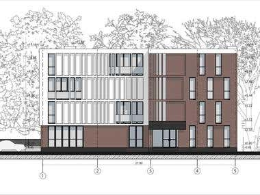 Hotel Elevation drawing