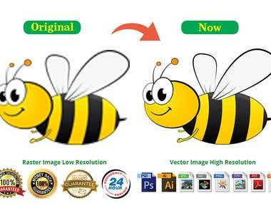 I Do vector tracing or redraw any logo