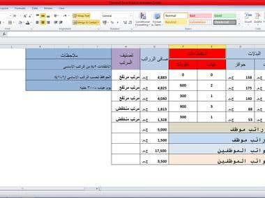 some of Excel sheets in both langue Arabic and English