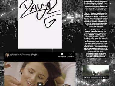 Desarrollo de página web para cantante de regueton