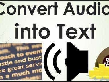 I will provide quality audio and video transcription