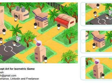 Isometric Game Concept Art