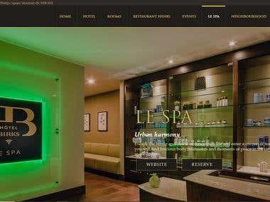 Wordpress Hotel website: