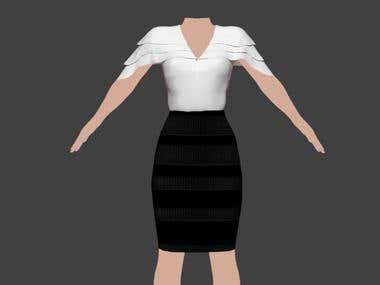 Cloths 3D Modeling