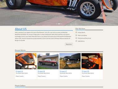 Car Restoration website