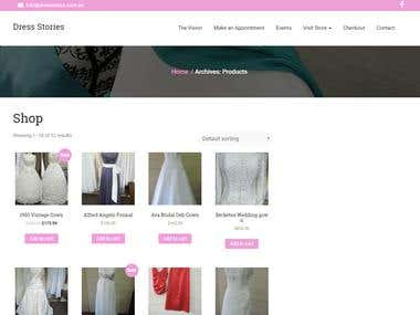 Wordpress - Bridal Website
