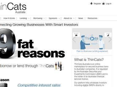 Peer-to-peer investment site
