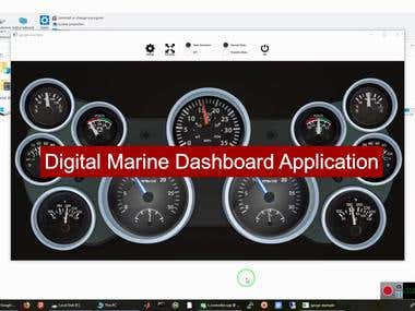 Digital Marine Dashboard written by C++/Qt for Raspberry Pi