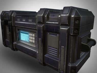 Sci-Fi Pelican Case - 3D Game Prop