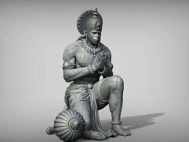 Lord Hanuman - 3D Printable Model