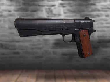 Colt M1911 Pistol - 3D Game Prop
