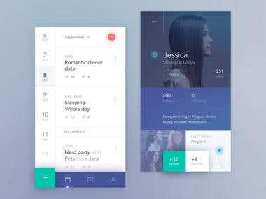 Mobile templete design