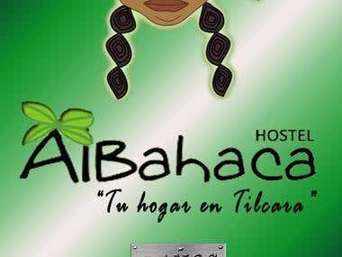 Folleto, imanes - Hostel Tilcara y Albahaca