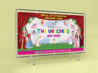 Unicorn Outdoor Banner